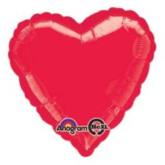 17in mettalic red heart Balloon Delivery