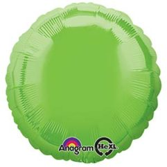 18in lime green circle Balloon Delivery
