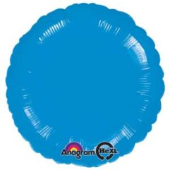 18in metallic blue circle Balloon Delivery