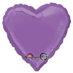 18in spring lilac heart Balloon Delivery
