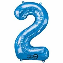 34IN Number 2 Blue Balloon Delivery
