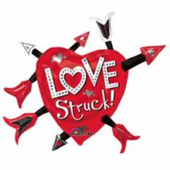 36In Love Struck Heart and Arrow Balloon Delivery