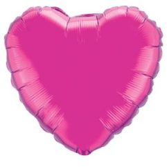36in magenta heart Balloon Delivery