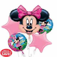Balloon BOuquet Minnie Birthday Balloon Delivery