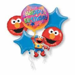 Balloon Bouquet Elmo Floating Birthday Balloon Delivery