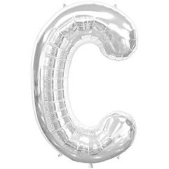 16in silver letters c Balloon Delivery