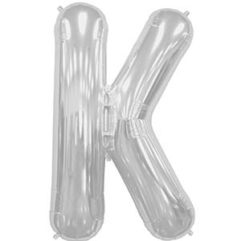 16in silver letters k Balloon Delivery