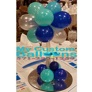 Balloon toppary centerpiece