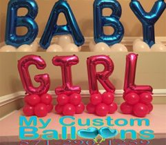 Baby Girl CP Balloon Delivery