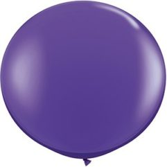 3ft purple violet latex qualatex Balloon Delivery