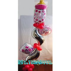 Baby Bottle Curve Pillar Balloon Delivery