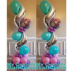 Curve Balloon Pillar Frozen Balloon Delivery