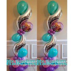 Curve Balloon Pillar HB Princess Balloon Delivery