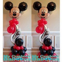 Curve Balloon Pillar LG Mickey Balloon Delivery