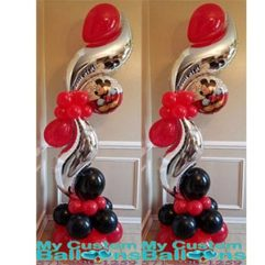 Curve Balloon Pillar Mickey Balloon Delivery
