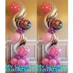 Curve Balloon Pillar Minnie Balloon Delivery