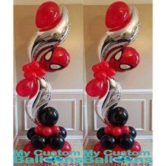 Curve Balloon Pillar Spiderman Balloon Delivery