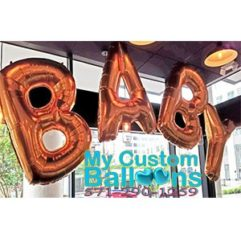 40in BABY balloon letter Pharse Balloon Delivery
