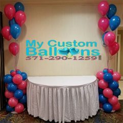 4ft Tall Self Standing Festive Balloon Column Balloon Delivery