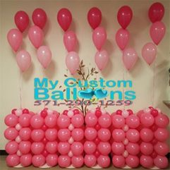 4ft Tall Self Standing Square Balloon Column Balloon Delivery