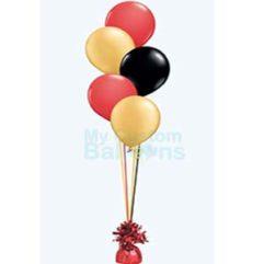 Cascade table centerpiece 5 balloons Balloon Delivery