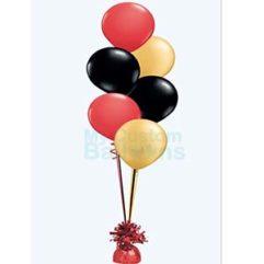 Cascade table centerpiece 6 balloons Balloon Delivery