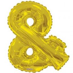 Gold Ampersand 34in Balloon Delivery