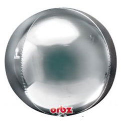 16 In Silver Orbz Balloon Delivery