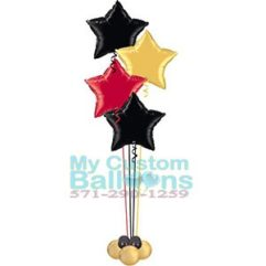 19in Foil balloon star centerpiece 4 delux Balloon Delivery