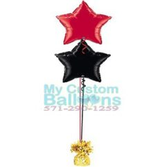 19in Foil star Balloon Centerpiece 2 Balloon Delivery