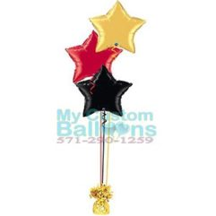 19in Foil star Balloon centerpiece 3 Balloon Delivery