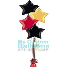 19in foil star balloon centerpiece 4 Balloon Delivery