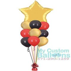 36in Star foil balloon with 9 latex Balloon Delivery