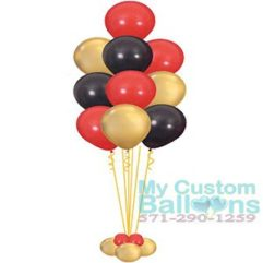 balloon tree 10 latex balloons Bouquet or Centerpiece Deluxe Balloon Delivery