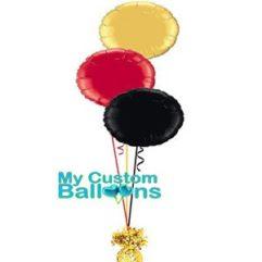 3 circle foil balloon centerpiece Balloon Delivery