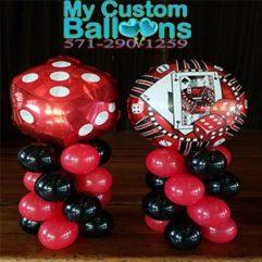 Casino balloon Centerpieces Balloon Delivery