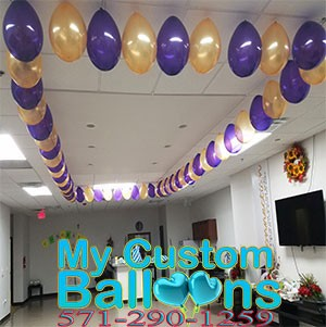 Ceiling Balloon Garland Decoration 9 X 20