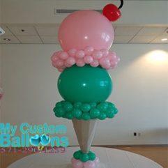 Double Scoop Ice cream cone Balloon Delivery