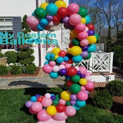 Organic Balloon Number 7 ft tall Balloon Delivery