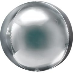 Silver Orb 21in Balloon Delivery