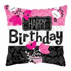 18In Pink Flowers Birthday Balloon Delivery