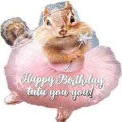 18in Ballerina Birthday Chipmunk Balloon Delivery