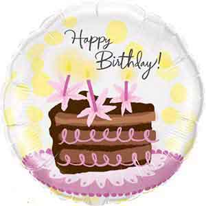 Awesome My Custom Balloons Birthday Cake Flowers 18In Personalised Birthday Cards Veneteletsinfo