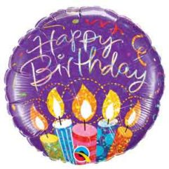 18in Birthday Party Candle Balloon Delivery
