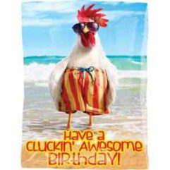 19in Happy Birthday Chicken Balloon Delivery