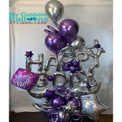 Delux Bday Gift Bouquet Balloon Delivery