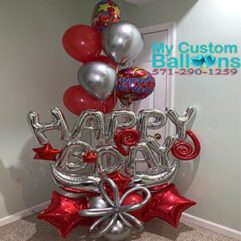 B Day arrangment Balloon Delivery