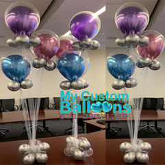 Balloon in a Balloon Centerpiece with Tulle Balloon Delivery