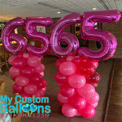 Indoor column with 2 numbers Balloon Delivery