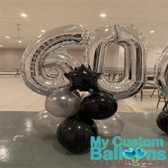 Number Centerpiece Balloon Delivery